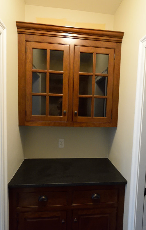 Cabinet Refinishing - Image of Cherry Kitchen Cabinets