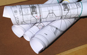 Commercial Painters - picture of blueprints