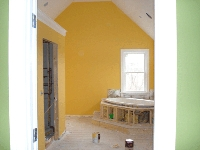 New Construction Painting Services - picture of construction site painting a room