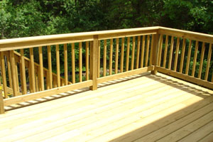 How to Paint a Deck- picture of painting a deck
