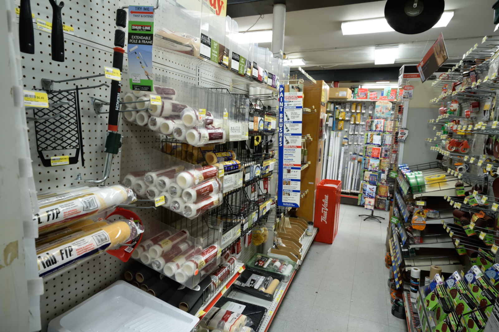 How to Paint like a Pro. Image of Painting supplies at Home Improvement Store