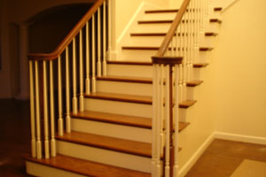 How to Stain - picture of stars, railing